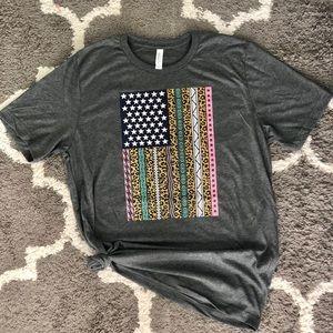 Multicolored Flag Tee
